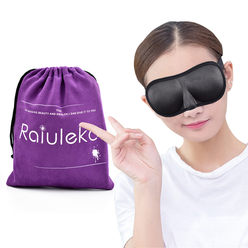 Sleep & Snoring Back To Search Resultsbeauty & Health Portable Soft 3d Sleep Mask For Travel Rest Aid Sleeping Eye Mask Eyepatch Black Eye Shade Adjustable Bandage Blindfolds Goggles