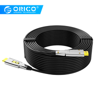 ORICO Micro HDMI To HDMI 2.0 Cable 4K 60Hz 3D Video Cables Two In One Optical Fiber Cables For Splitter Switch TV Computer