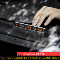 For Mercedes benz A B C E S class GLA CLA G500 GLE GLC ML GLK G number plate accessories auto