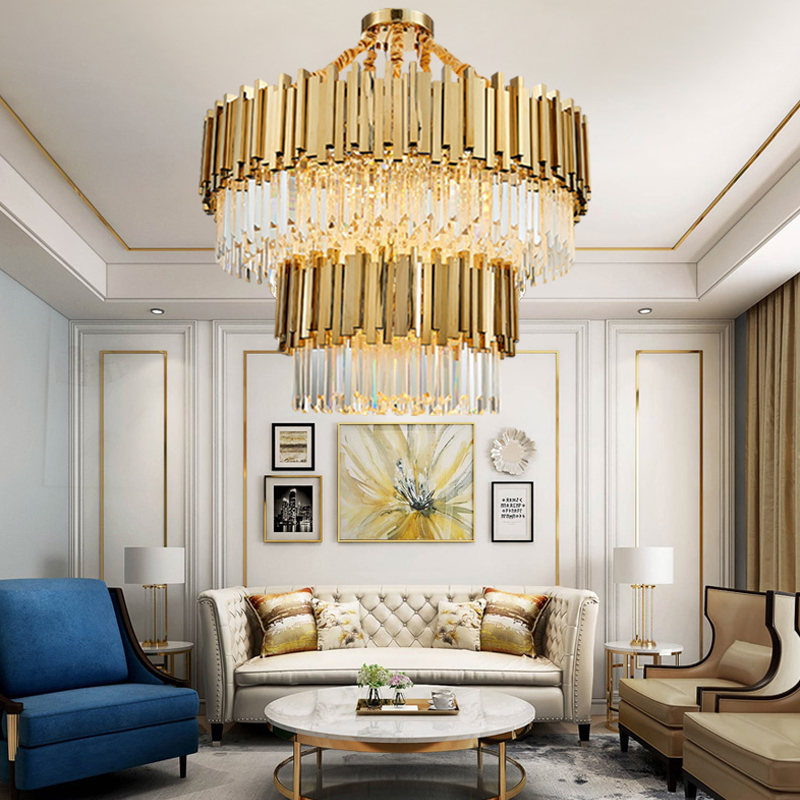 Modern Chandeliers For Dining Room: LED Crystal Modern Ceiling Chandelier Lighting For Living