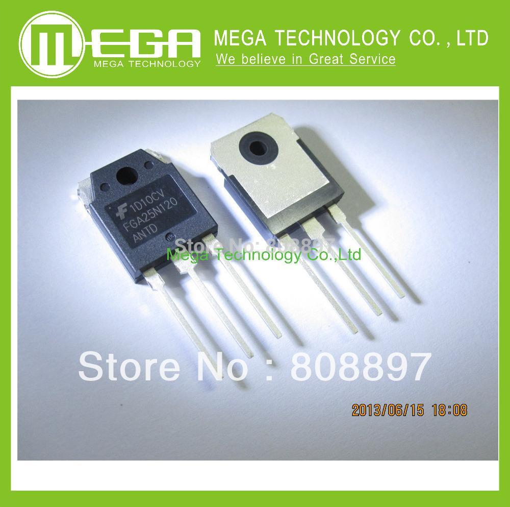 Free shipping 20pcs FGA25N120 FGA25N120ANTD 25N120 High-power IGBT tube