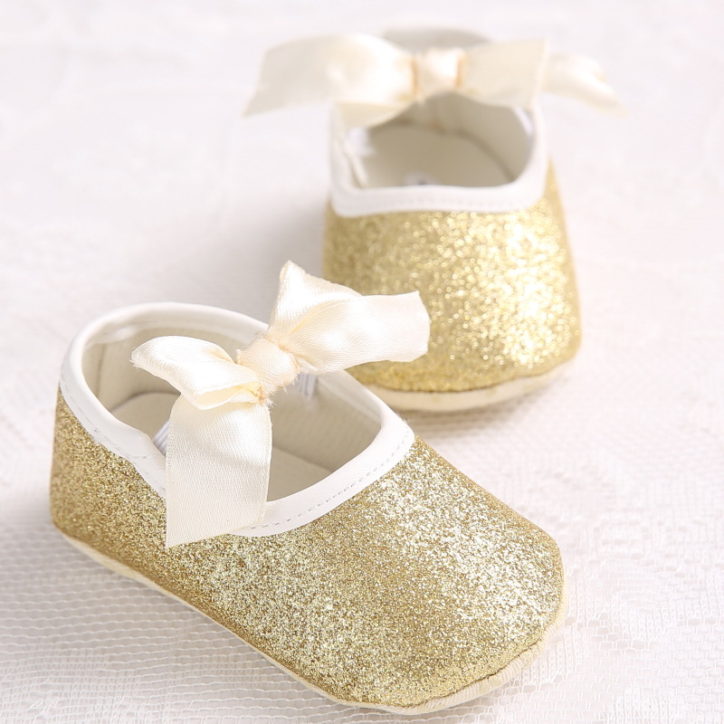 df83f3db49 kidadndy Toddler Baby Shoes Flash Gold Bow Soft Bottom Sneaker Glitter Baby  Shoes Anti Slip Soft Sole Toddler YEW312-in First Walkers from Mother & ...