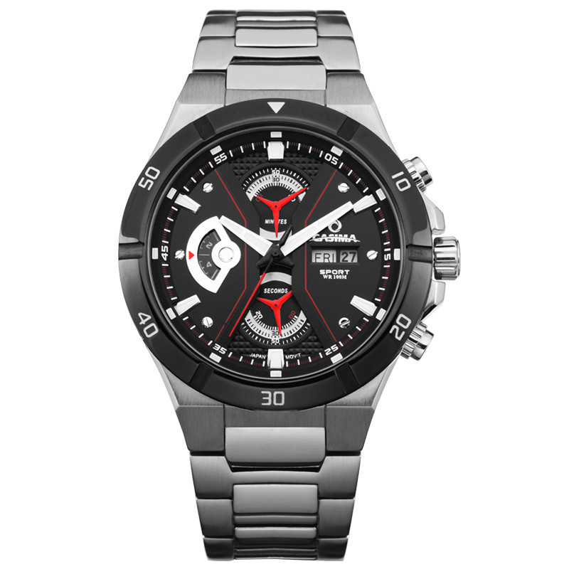 Luxury Mens Watches Brand CASIMA Stainless Steel Full font b Military b font font b Sport