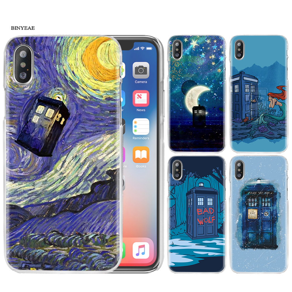 Half-wrapped Case Babaite Doctor Who Tardis Illustrations Blue Tpu Black Phone Case Shell For Iphone 8 7 6 6s 6plus X Xs Max 5 5s Se Xr 10 Cover