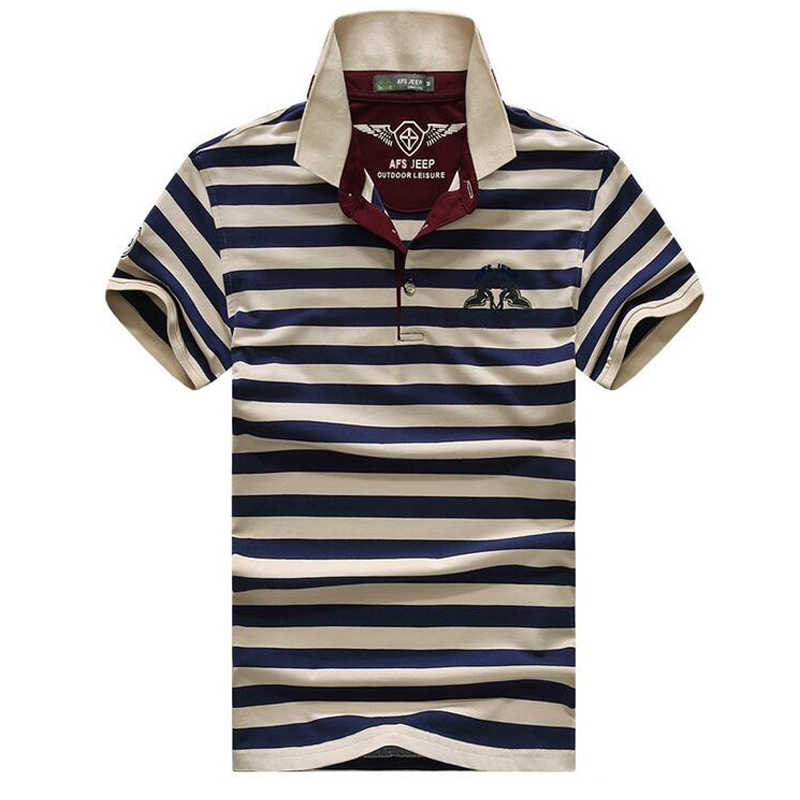 efb8bf207eb3a High quality brand men polo shirt new summer casual striped cotton men s  solid polo shirt polo
