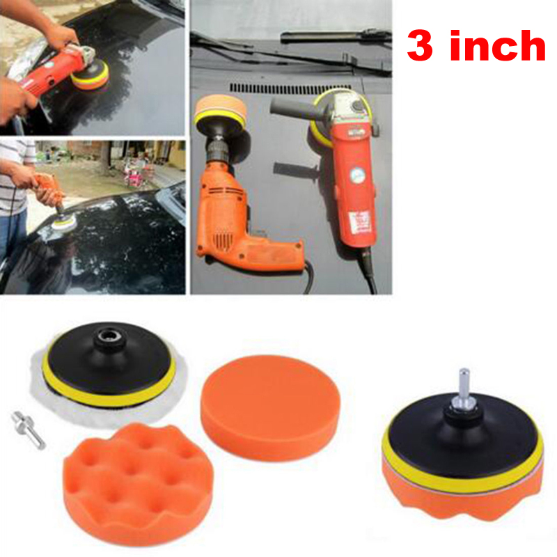 Tools Polishing Sponge Wheel Kit Polisher 7pcs/set 3 Car Polishing Pad Polishing Buffer Waxing Buffing Pad Drill Set Kit