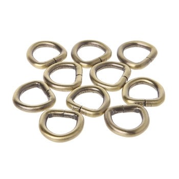10Pcs Metal D Ring Bag Buckle Handbag Leather Bag Purse Strap Belt Web Clasp 12mm Bag Accessories цена 2017
