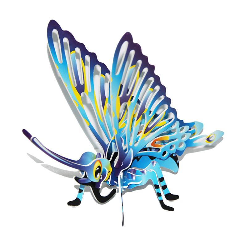 diy kids 3d paper puzzles insects recognition colorful butterfly hands on toys assembling kits for educational learning toy
