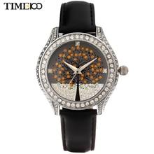 TIME100 Femmes de Montres À Quartz Diamant Bracelet En Cuir arbre de vie Strass Robe Montre-Bracelet Pour Femmes Relogio Feminino