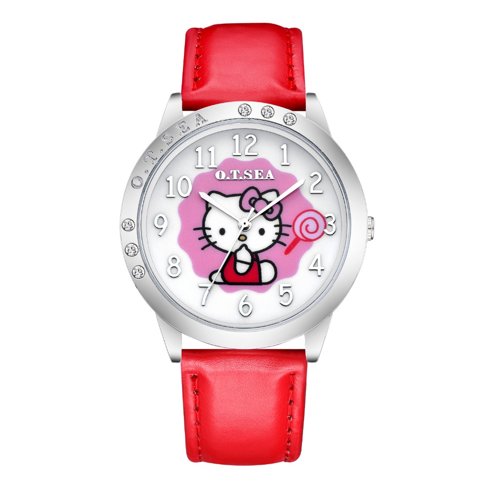 Cute Lovely Fashion Bracelet Hello Kitty Quartz Watch Children Kids Women Wrist Watch Wristwatches Clock Relojes Mujer relogio high quality rose gold hello kitty watch children girls women fashion dress quartz wristwatches go085