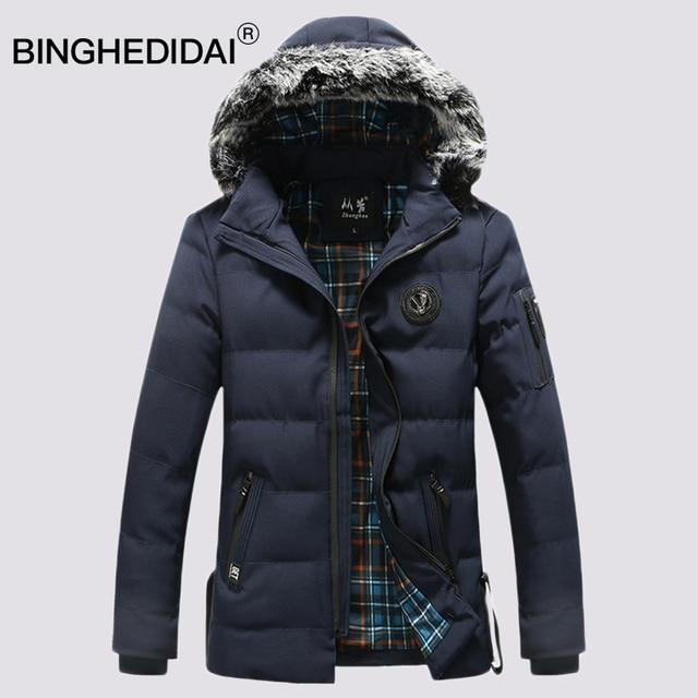Men winter coat long fur jacket men cotton padded jacket large men ... : men quilted coat - Adamdwight.com