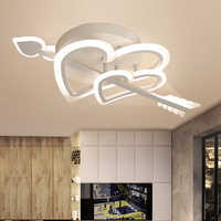 Nordic led lamps modern minimalist at first sight love wedding bedroom home lamp living room study ceiling lamp