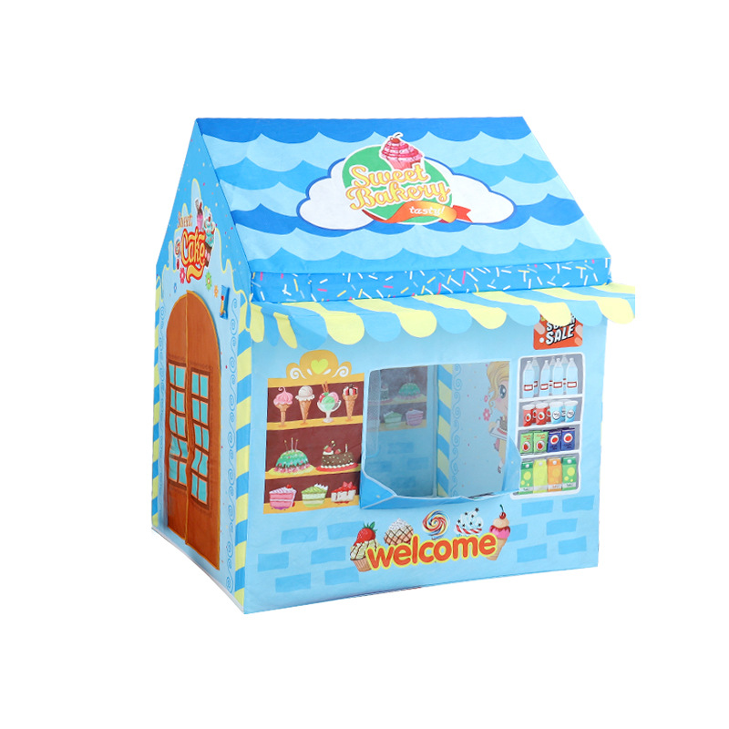 Dessert maison jouer tentes Portable pliable intérieur extérieur dessin animé fille princesse enfants bébé océan balle fosse piscine jeu maison jouet