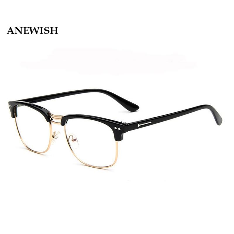 anewish 2017 discounts fashion designer glasses women eyewear accessories male eyeglasses frames men oculos de grau