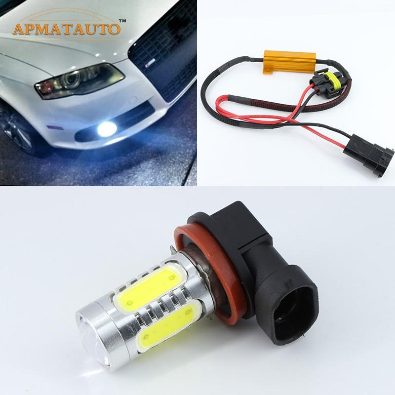 2 X H11 <font><b>H8</b></font> для кри фишки автомобиля светодиодный проектор Туман света DRL 11 Вт никакой ошибки для Audi A3 a4 A5 S5 A6 Q5 Q7 TT
