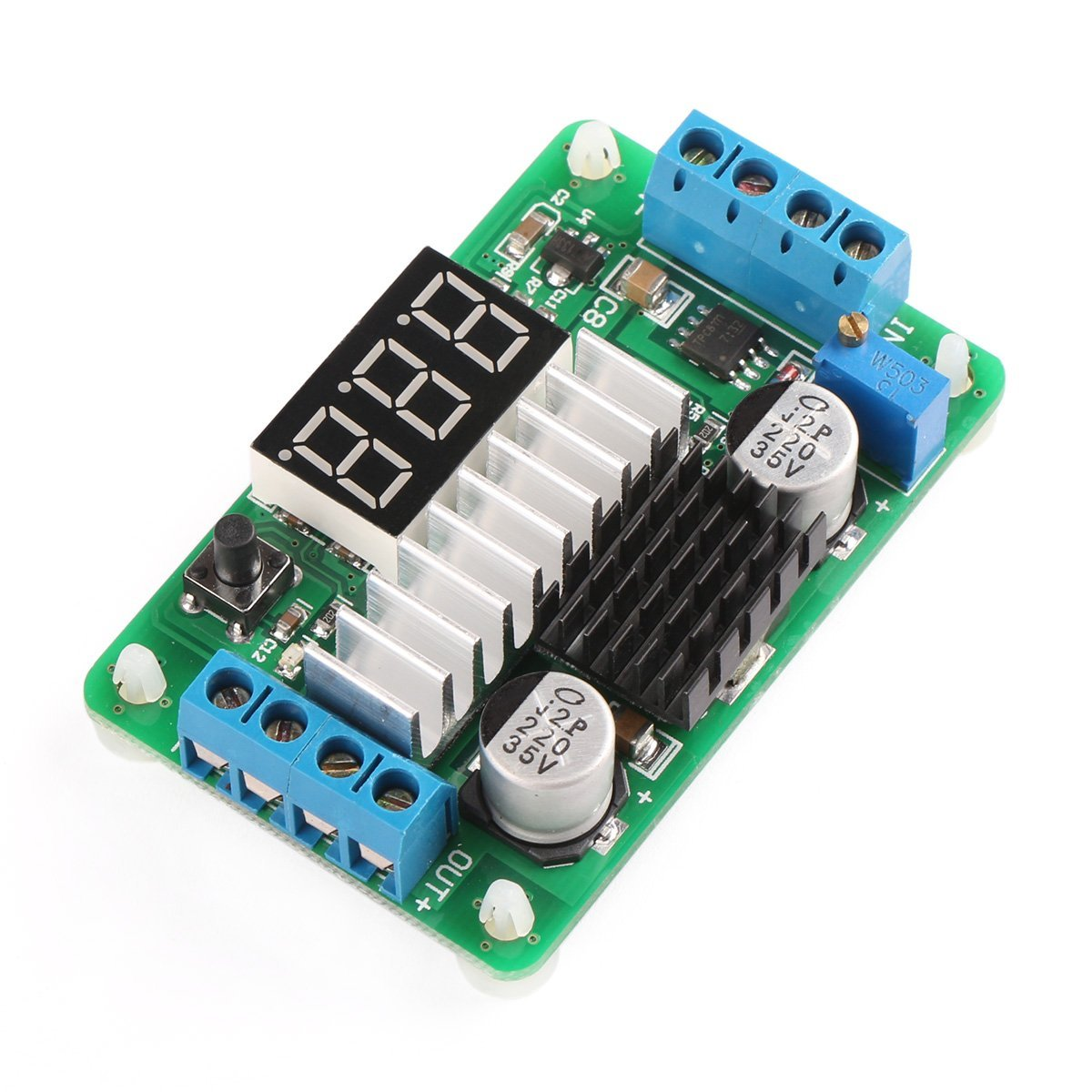 3.5V-30V DC Boost Converter Power Transformer Voltage Regulator 5V/12V Step Up Volt Module Board for Car Motorcycle Automotive