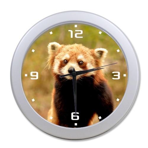 Circular Wall Decor newest design circular wall decor clock cute red panda bedroom