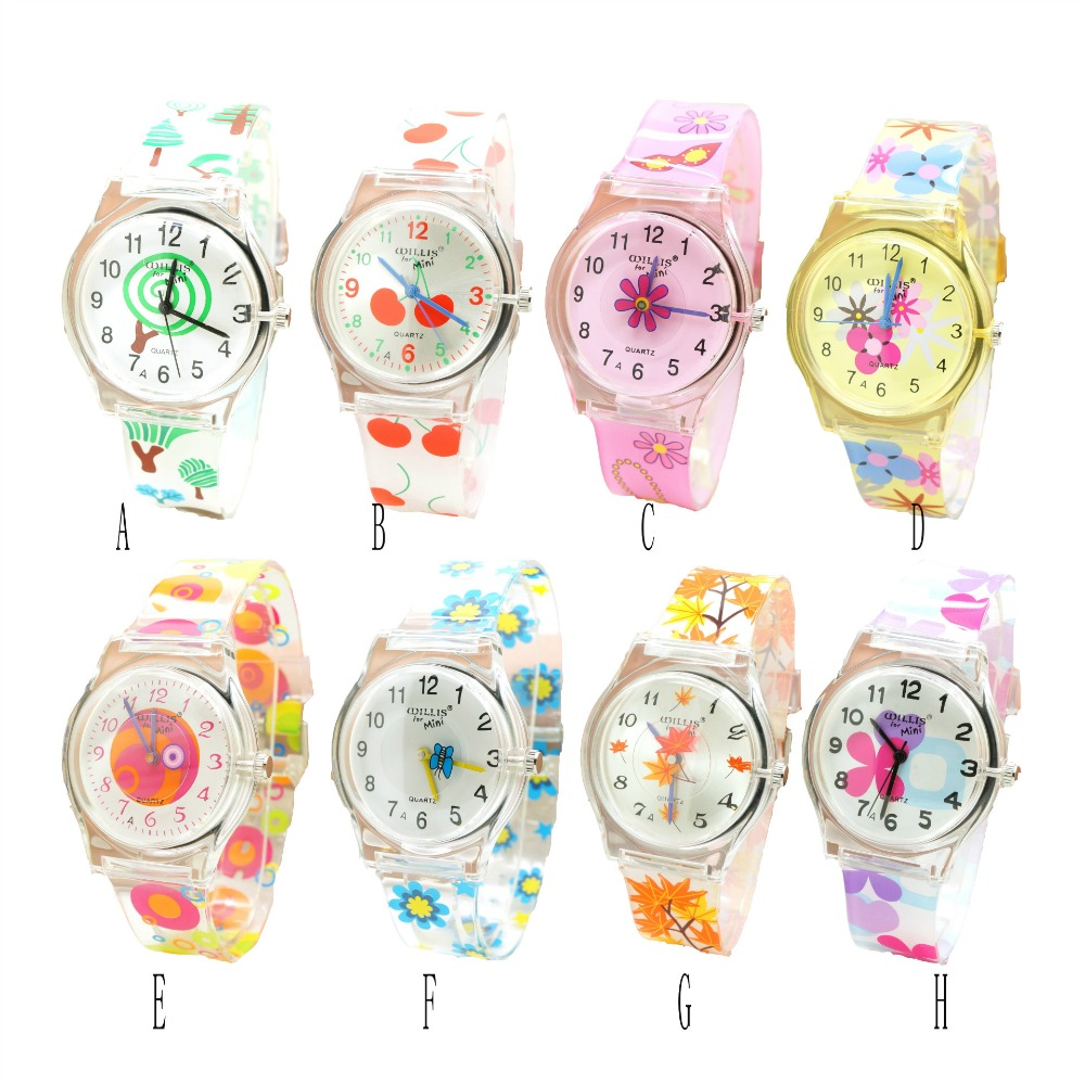 Willis Watch For Children Shield Design For Kids Students Fashion flower High heels cherry snail tree Pattern Analog Wrist Watch analog watch