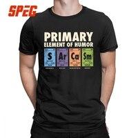 Периодическая таблица юмора Мужская футболка S Ar Ca Sm науки сарказм первичные элементы химии футболка Веселая хлопок Юмор футболки