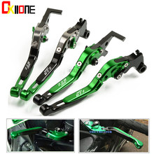 Set For KAWASAKI ZZR1200 2002-2005 2003 Motorcycle  Adjustable Folding Extendable CNC New Clutch Brake Levers Up with logo