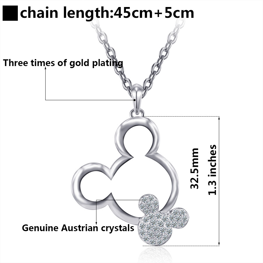 Aliexpress.com : Buy Mickey necklace women girls fashion jewelry ...