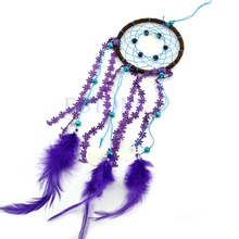 цена на Dream Catcher with feather Fashion Car wall hanging decoration ornament Crafts Free shipping-Y102