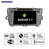 Liislee Android 7.1 2G RAM Araba Radyo Ses Video Multimedia DVD Oynatıcı WIFI DVR GPS Navi Navigasyon Toyota Prius Için LHD