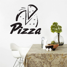 Pizza Wall Decals Vinyl Removable Restaurant Wall Decor Sticker Food Interior Design Wall Stickers For Kitchen