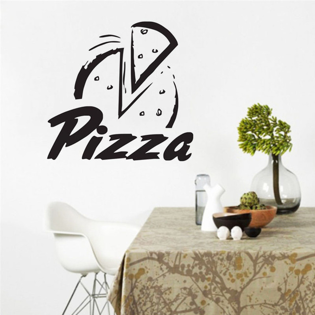 pizza wall decals vinyl removable restaurant wall decor sticker food