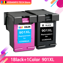 QSYRAINBOW  Ink cartridge remanufactured for HP 901 XL Black printer 4500 J4580 J4550 J4540 Wireless J4680