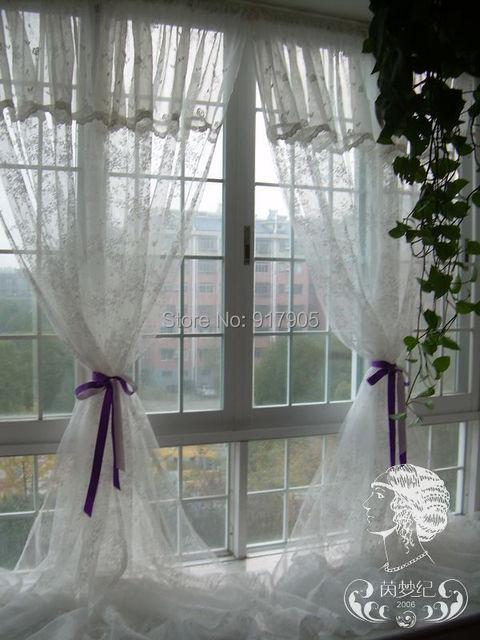 Romantische franse landelijke stijl rustieke geborduurde for Romantische gordijnen
