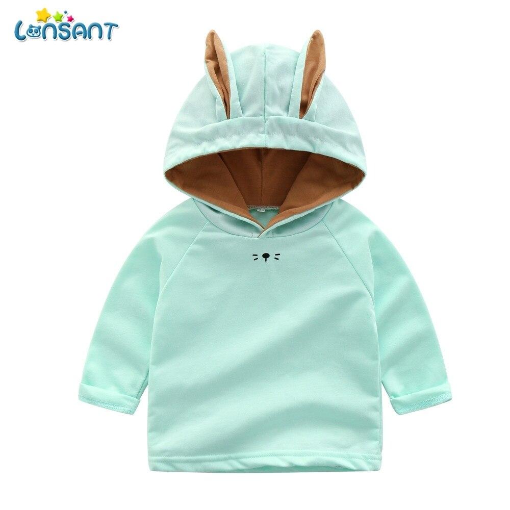 LONSANT Children Hoodies Printed Long Sleeve Casual Hooded Sweatshirt Baby Girl Winter Clothes Moleton Infantil Com Capuz N30
