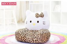 lovely plush kitty children's sofa tatami toy leopard kitty soft seat doll gift about 54x45cm