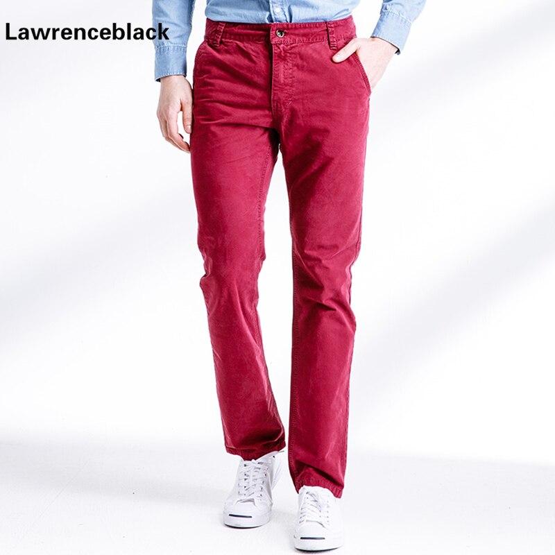100% Wahr 2017 Neue Beiläufige Rot Männer Hosen Dünne Hose Gerade Hosen Fashion Solid Hosen Männer Hosen Plus Größe Pantalon Fracht Hommes 689