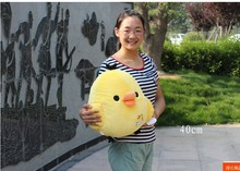 cute yellow chicken plush toy lovely happy chicken doll birthday gift about 40cm
