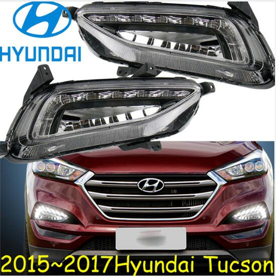 Car-styling,Tucson daytime light,2015~2016,chrome,LED,Free ship!2pcs,car-detector,Tucson fog light,car-covers,Tucson headlight factory outlet high quality car styling chrome tank cover for 2015 hyundai tucson chrome accessories