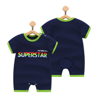 muqian Baby Romper Girl Boy Short Sleeve Leopard Print Summer Clothing Newborn Next Jumpsuits & Rompers novatx baby clothing