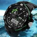 Skmei marca de luxo mens relógio dos homens do esporte militar relógios de quartzo led digital ao ar livre à prova d' água relógios relogio masculino