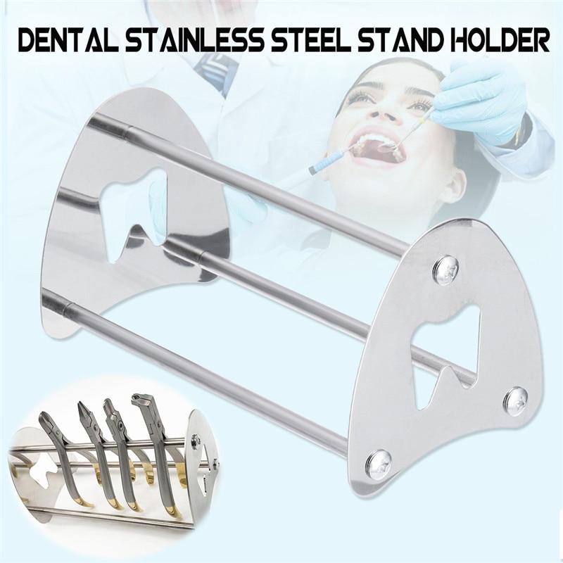 Support de support de support d'acier inoxydable d'outil dentaire pour la pince coupante orthodontique ciseaux de pince outil de laboratoire de Detist 18.8x10.4*10.2 cm