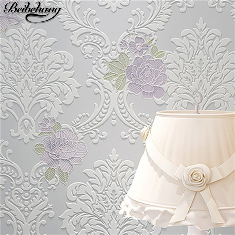 beibehang High quality Modern Luxury 3d wallpaper roll for wall flower papel de parede tapete for bedroom living room wallcoveri large mural papel de parede european nostalgia abstract flower and bird wallpaper living room sofa tv wall bedroom 3d wallpaper