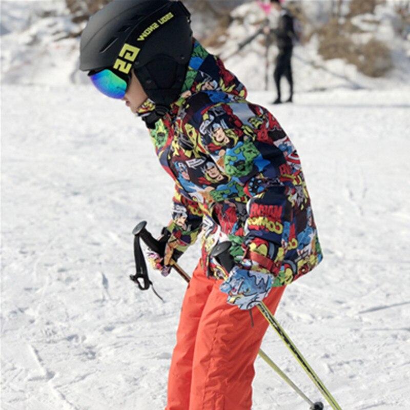 Hiver pas cher veste de Ski enfants combinaison de Ski ensemble pour fille garçons Snowboard vestes pantalon de neige enfants imperméable chaud Ski Enfant