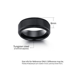 Personalized Engrave Tungsten Steel Ring Fashion Jewelry Black Men Rings