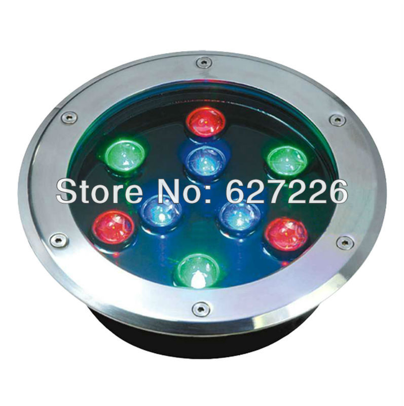 ФОТО 9W LED underground lamp,DC24V IP68 waterproof,DMX512 Control,2 years warranty,CE&ROHS,led underground light