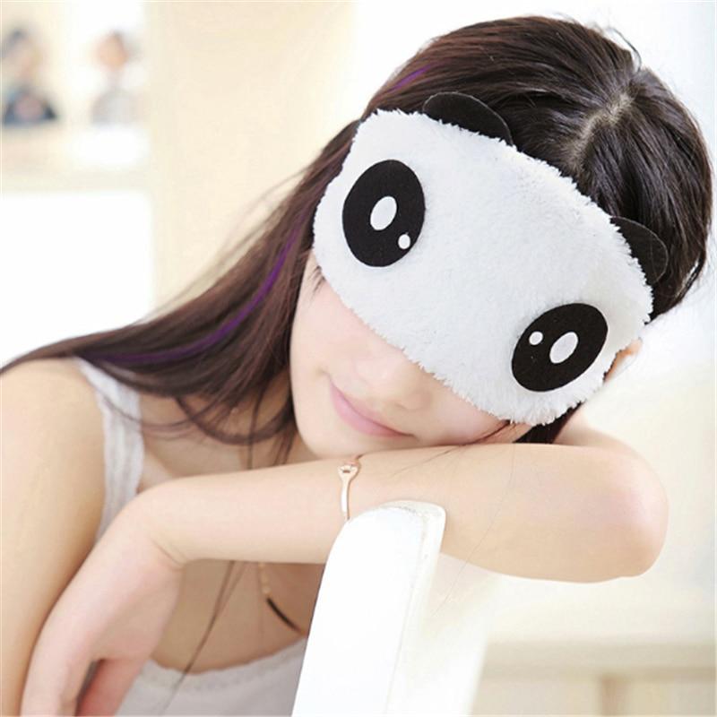 Yeni Sevimli Yüz Beyaz Panda Göz maskesi Siperliği Gölgeleme Uyku Pamuk Gözlük uyku maskesi Körü Körüne Göz Kapağı sağlık Makyaj seti