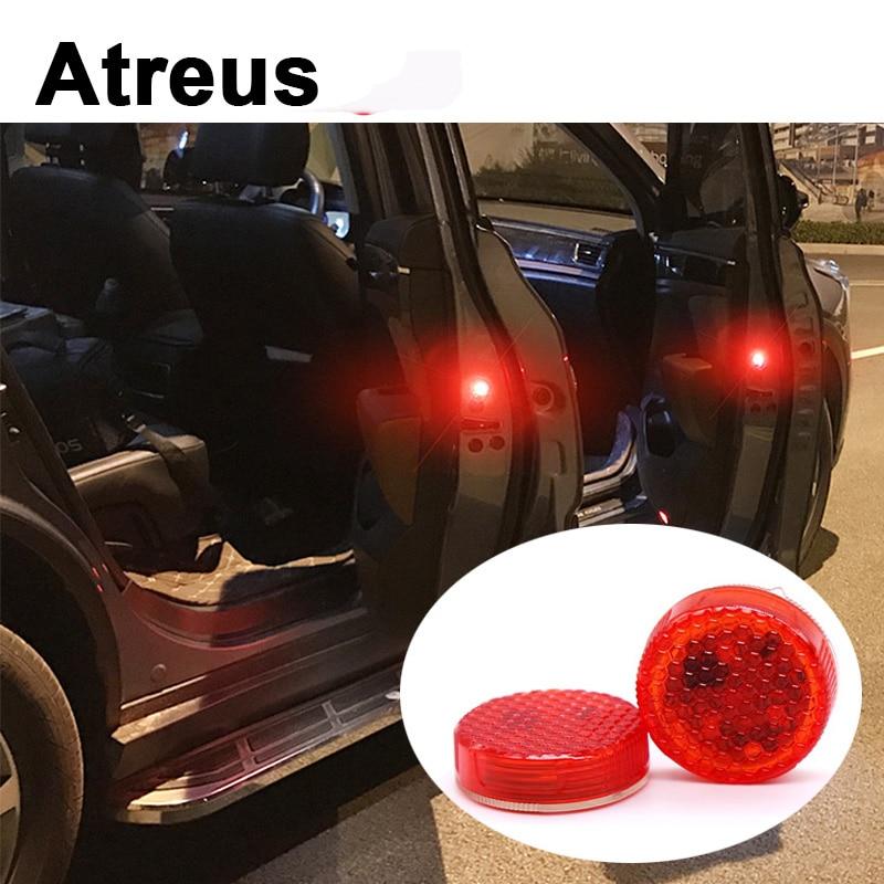 Atreus 2pc Car Door warning signal crash strobe lights LED For Mitsubishi ASX Suzuki Subaru Acura Jeep Renegade Fiat 500 Hyundai фаркоп suzuki sx4 fiat sedici 06