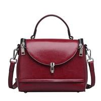 England Fashion Messenger Bags doctor bag brand 2018 new women 100% genuine leather shoulder bag free Shipping