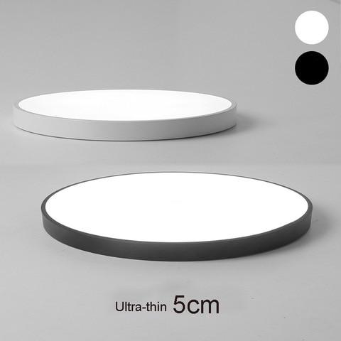 lampadas de teto circular ultrafinas 5cm led lampadas de teto controle remoto para varanda o