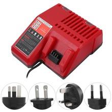 18V 110-240V Fast Lithium Battery Charger for Milwaukee Safe Lithium Battery Charger for M12M18 US UK AU EU plug