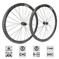 ECC N84D carbon wheels Straight Pull Low Resistance Road Bike Wheel disc brake 40mm carbon Rims 700C Bicycle Wheels