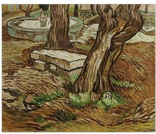 The Bench at Saint Remy by Vincent Van Gogh Handpainted